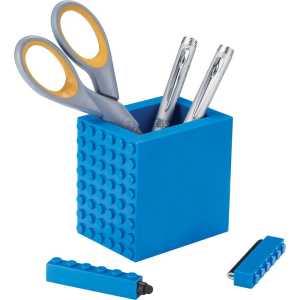3 in 1 Tech Desktop Set Pen Holder A1010BL Blue