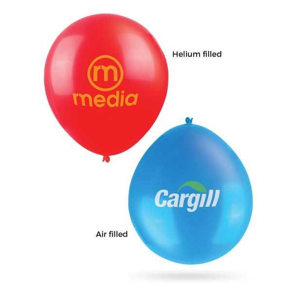 30cm Balloons CA107102 Blue Air Red Helium
