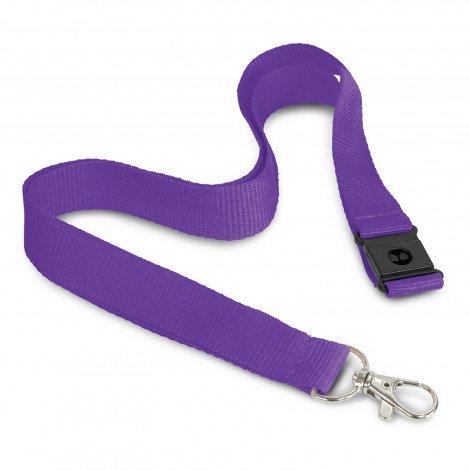 3D Logo Lanyard 116612 Purple