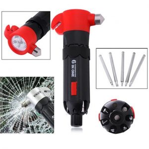 6 In 1 Multi Functional Car Emergency Hammer CAOC30X105 All