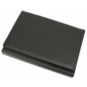 A4 Expandable File Portfolio 9166BK Black Front