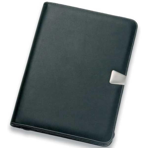 A4 Leather Compendium 503BK Black Front