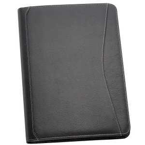 A4 Leather Compendium 505BK Black Front