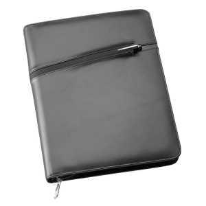 A4 Leather Compendium 9046BK Black Front