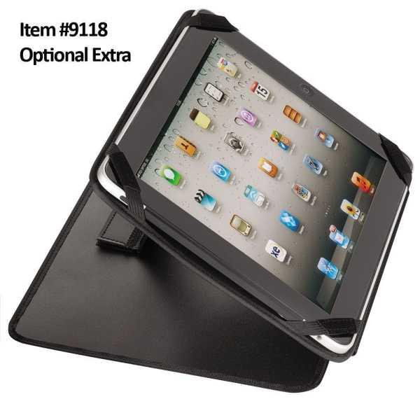 A4 Leather Compendium Binder 9023BK Black Tablet Insert