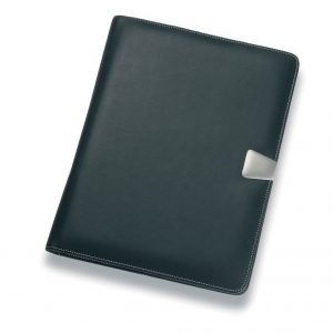 A4 Leather Pad Cover 502BK Black Front