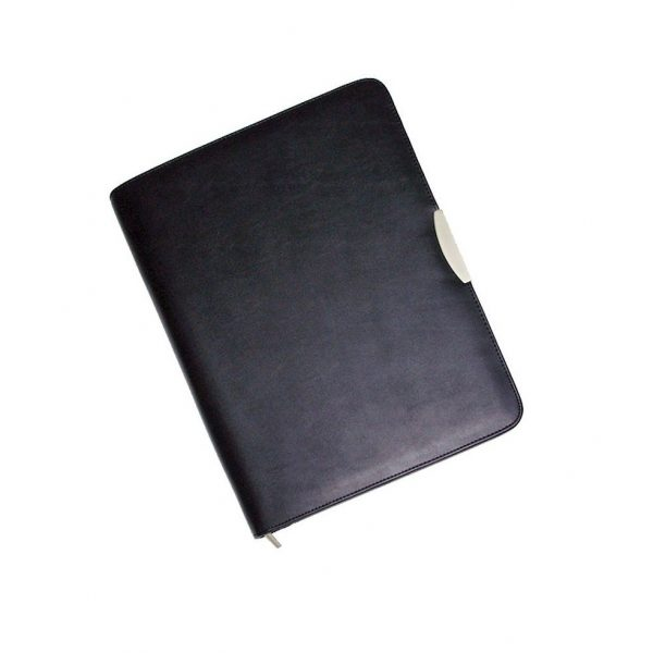 A4 Portfolio with Solar Calculator 572BK Black Front