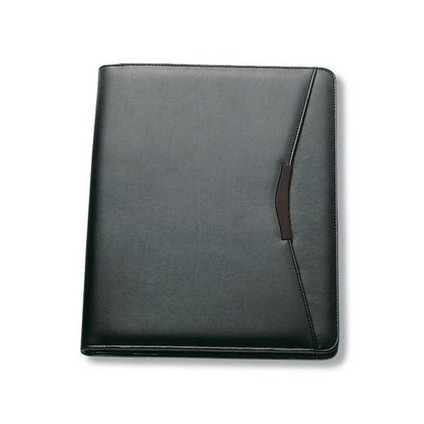A4 Zippered Compendium 9012BK Black Front