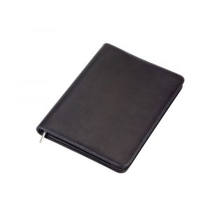A4 Zippered Compendium 9078BK Black Front