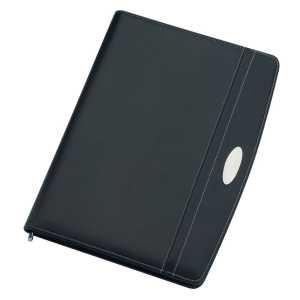A4 Zippered Compendium 9105BK Black Front
