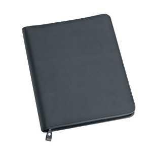 A4 Zippered Compendium 9163BK Black Front