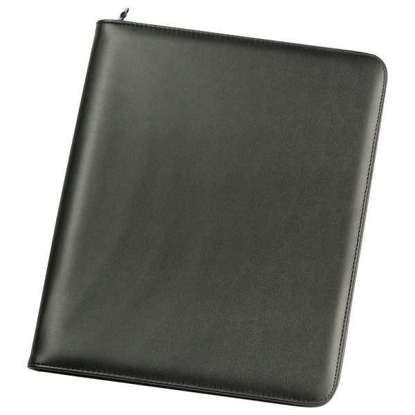 A4 Zippered Compendium 9199BK Black Front