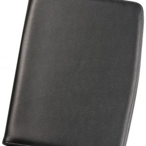 A4 Zippered Compendium 9203BK Black Front