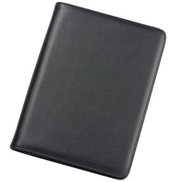 A4 Zippered Compendium 9204BK Black Front