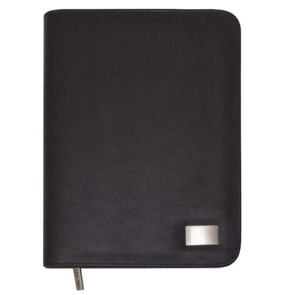 A5 Zippered Compendium 520BK Black Front