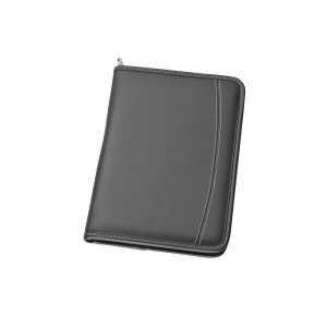 A5 Zippered Compendium 9033BK Black Front