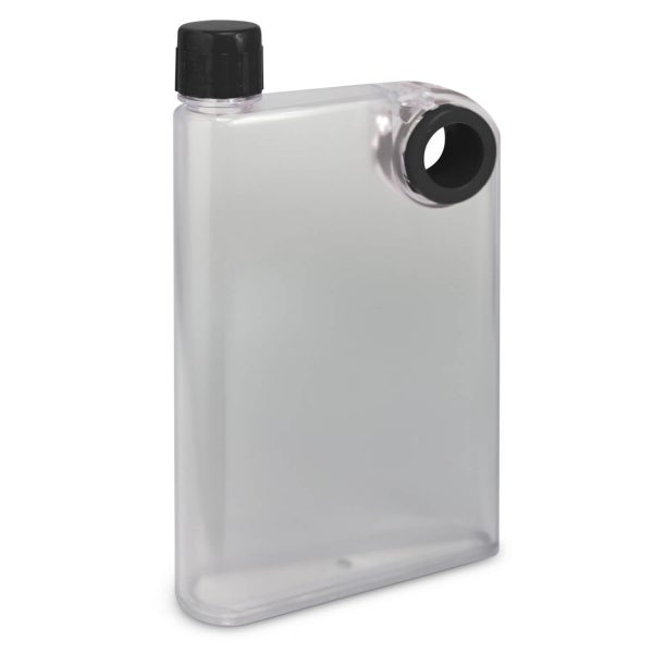 Accent Flat Water Bottles Mix and Match 115393 Frosted Clear Black