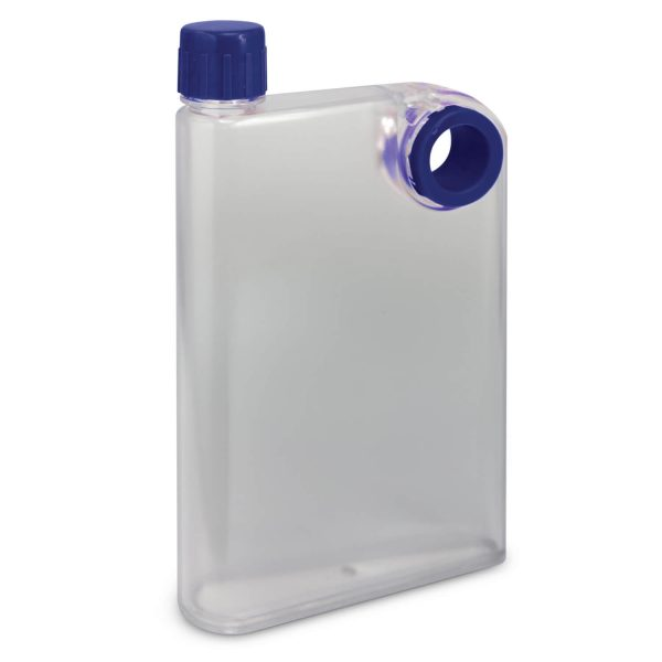 Accent Flat Water Bottles Mix and Match 115393 Frosted Clear Dark Blue