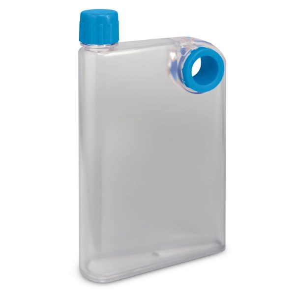 Accent Flat Water Bottles Mix and Match 115393 Frosted Clear Light Blue