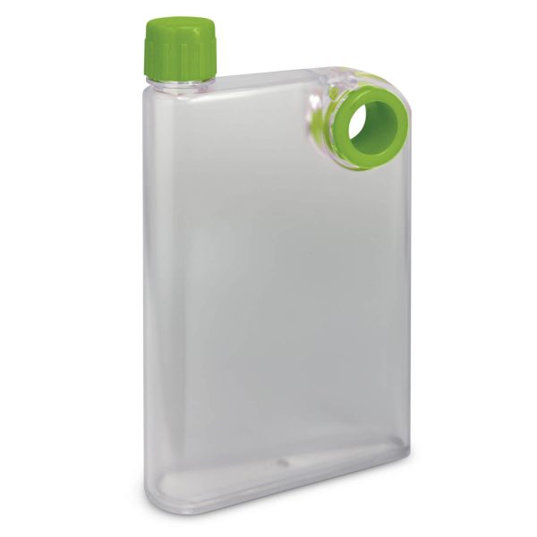 Accent Flat Water Bottles Mix and Match 115393 Frosted Clear Lime Green
