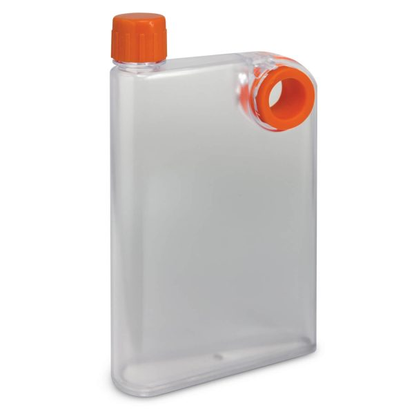 Accent Flat Water Bottles Mix and Match 115393 Frosted Clear Orange