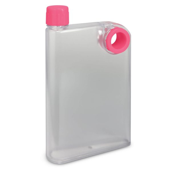 Accent Flat Water Bottles Mix and Match 115393 Frosted Clear Pink