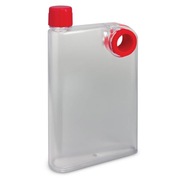 Accent Flat Water Bottles Mix and Match 115393 Frosted Clear Red