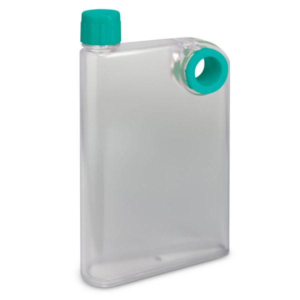 Accent Flat Water Bottles Mix and Match 115393 Frosted Clear Teal