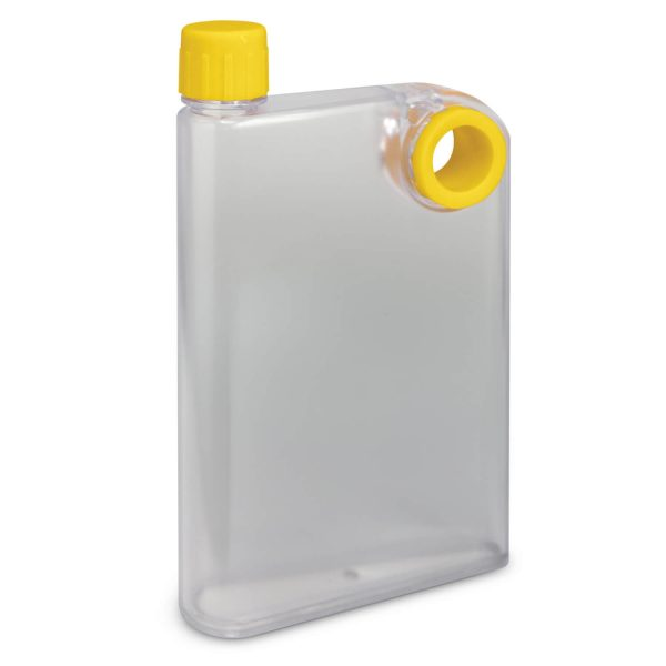 Accent Flat Water Bottles Mix and Match 115393 Frosted Clear Yellow