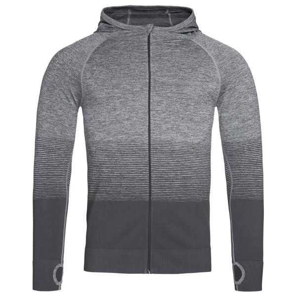 Active Seamless Hoodies Mens Grey
