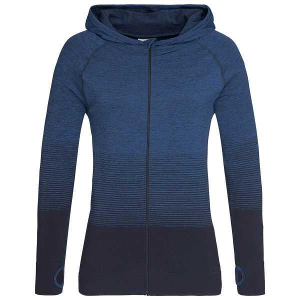 Active Seamless Hoodies Womens Blue