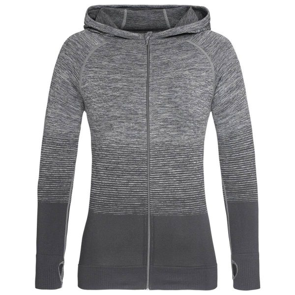 Active Seamless Hoodies Womens Grey
