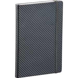 Ambassador Carbon Fibre 5 x 7 JournalBook CA9135BK Grey