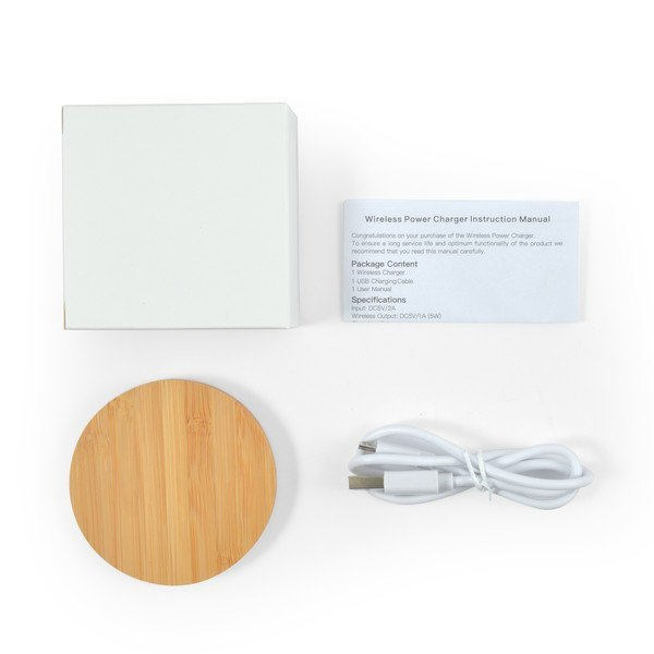 Arc Bamboo Wireless Charger CALL0220 Natural Kit