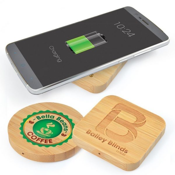Arc Bamboo Wireless Charger CALL0220 Square Round
