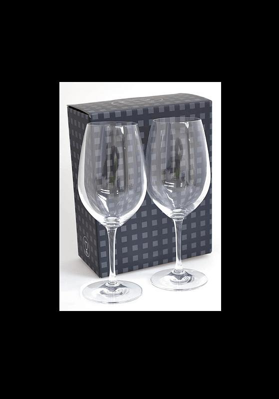 Ariston Red Wine Glasses 4735530 Set in Black Gift Box