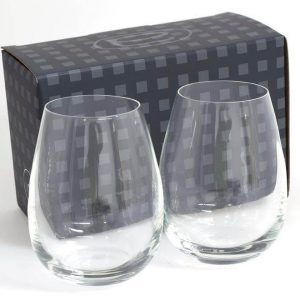 Ariston Stemless 4237550 Set of 2 in Black Gift Box