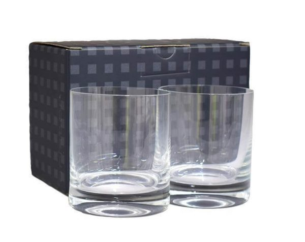 Ariston Whisky Glass Set 1605390 2 Glaases with Black Gift Box