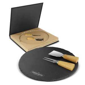 Ashford Slate Cheese Board Set CA116729 Black Branded
