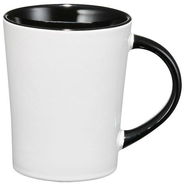 Aura Ceramic Mug 4055BK White Black