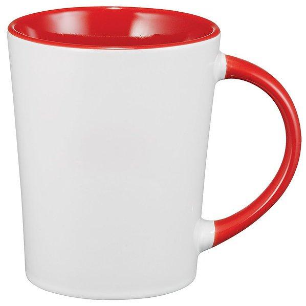 Aura Ceramic Mug 4055BK White Red