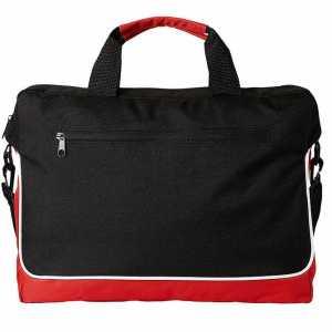 Austin Conference Messenger Satchel Bag 5068BK Black Red