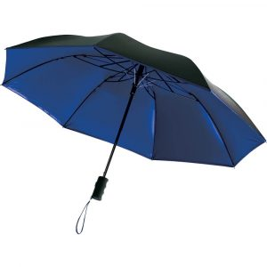 Auto Open 42 Inch Folding Color Splash Umbrella CASB1005 Black Open Underneath Blue Colour