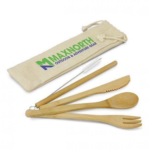 Bamboo Cutlery Set CA117633 Natural with Pouch
