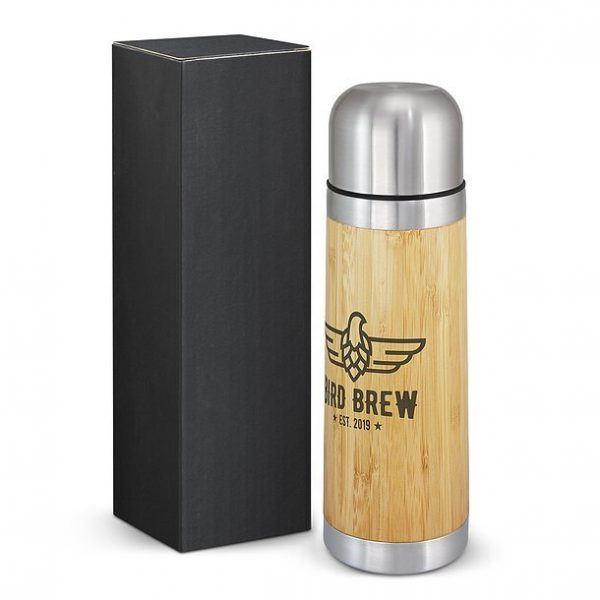 Bamboo Flask CA200296 Natural with Black Gift Box