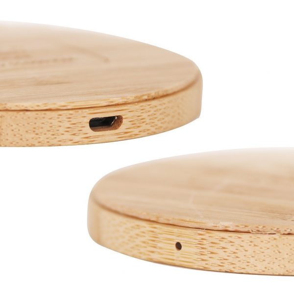 Bamboo Wireless Charger CAPCT041 Natural Side