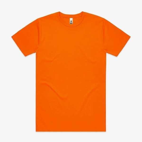 Block T Shirts Fluoro Unisex 5050F Orange