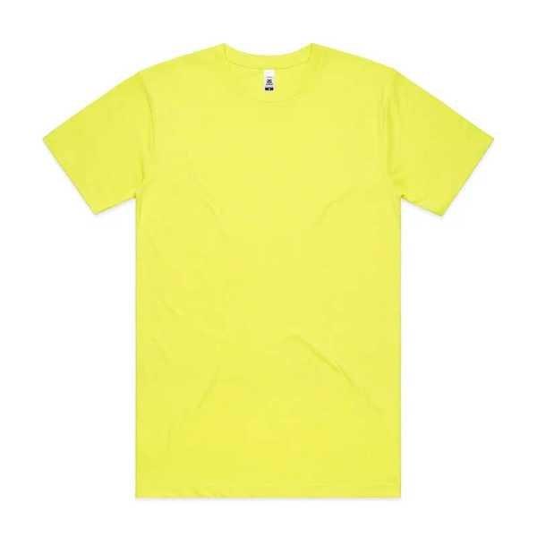 Block T Shirts Fluoro Unisex 5050F Yellow