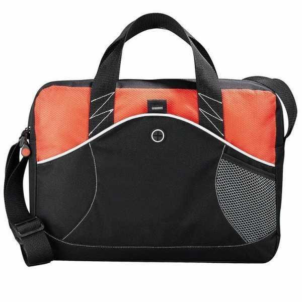 Boomerang Conference Messenger Satchel Brief 5149RD Black Orange