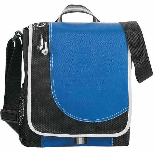Boomerang Conference Satchel Messenger Bag 5056RD Black Blue